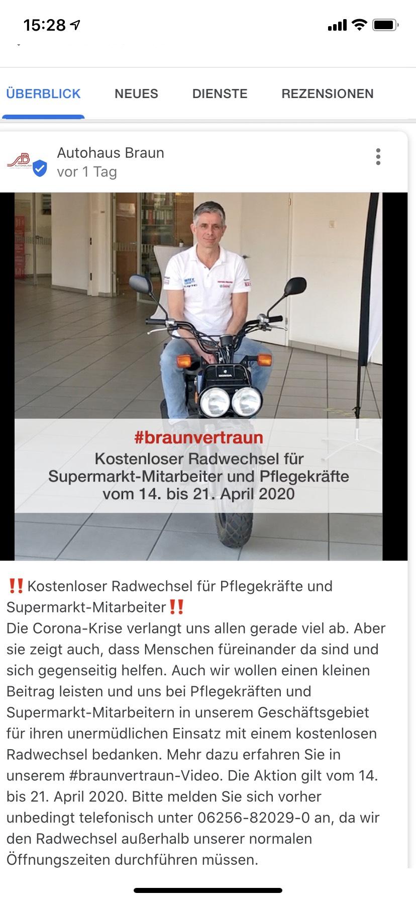 (Lokal Lampertheim) Kostenloser Reifenwechsel für Pflegekräfte und Supermarktmitarbeiter