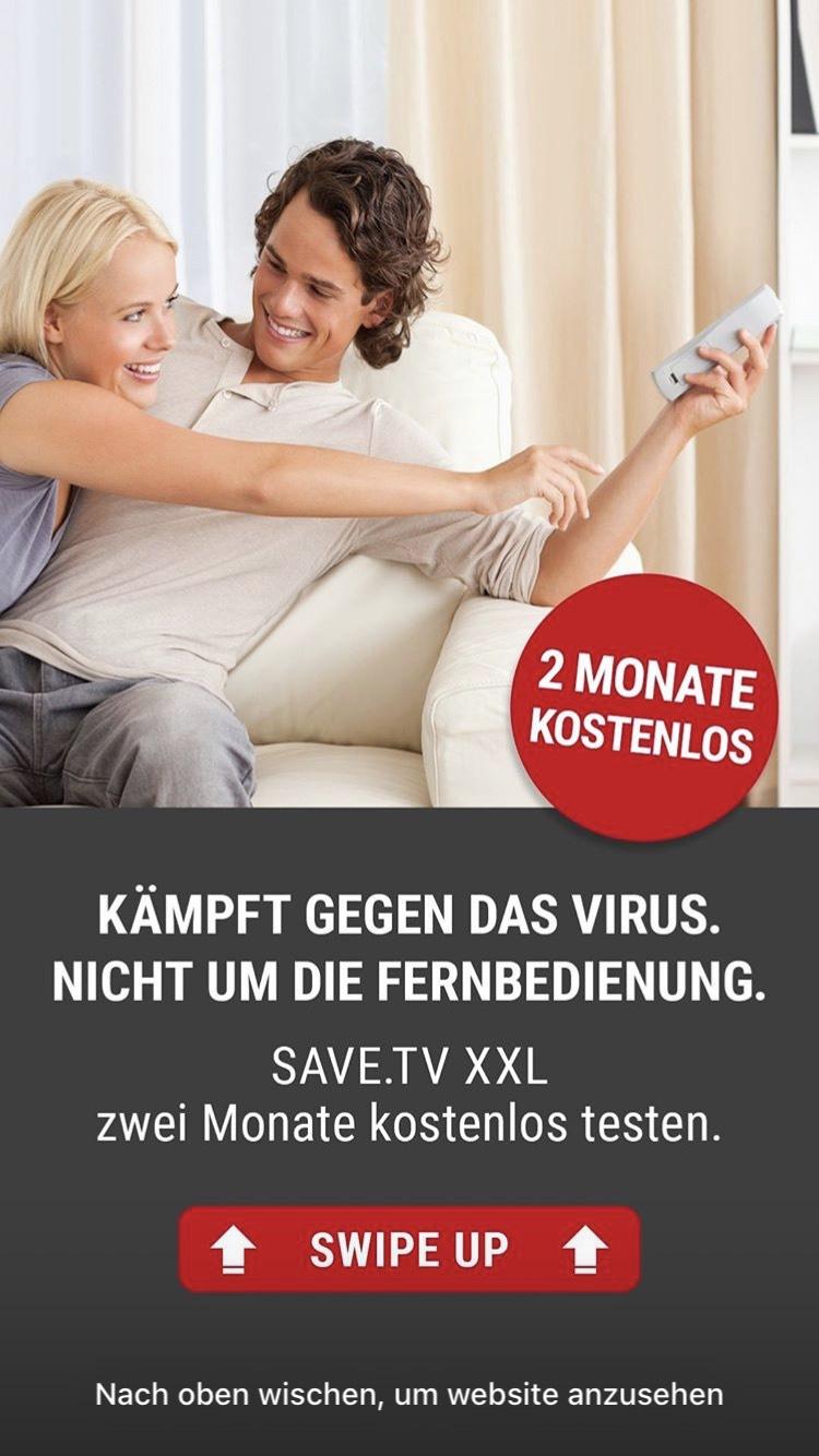 SAVE.TV XXL - 2 Monate kostenlos
