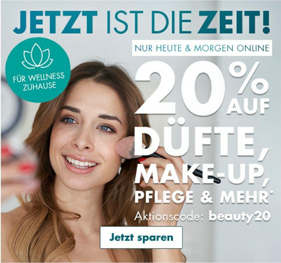 [Galeria.de] 20% auf Düfte, Make-Up, Pflege etc. (Kostenloser Versand ab 20€)