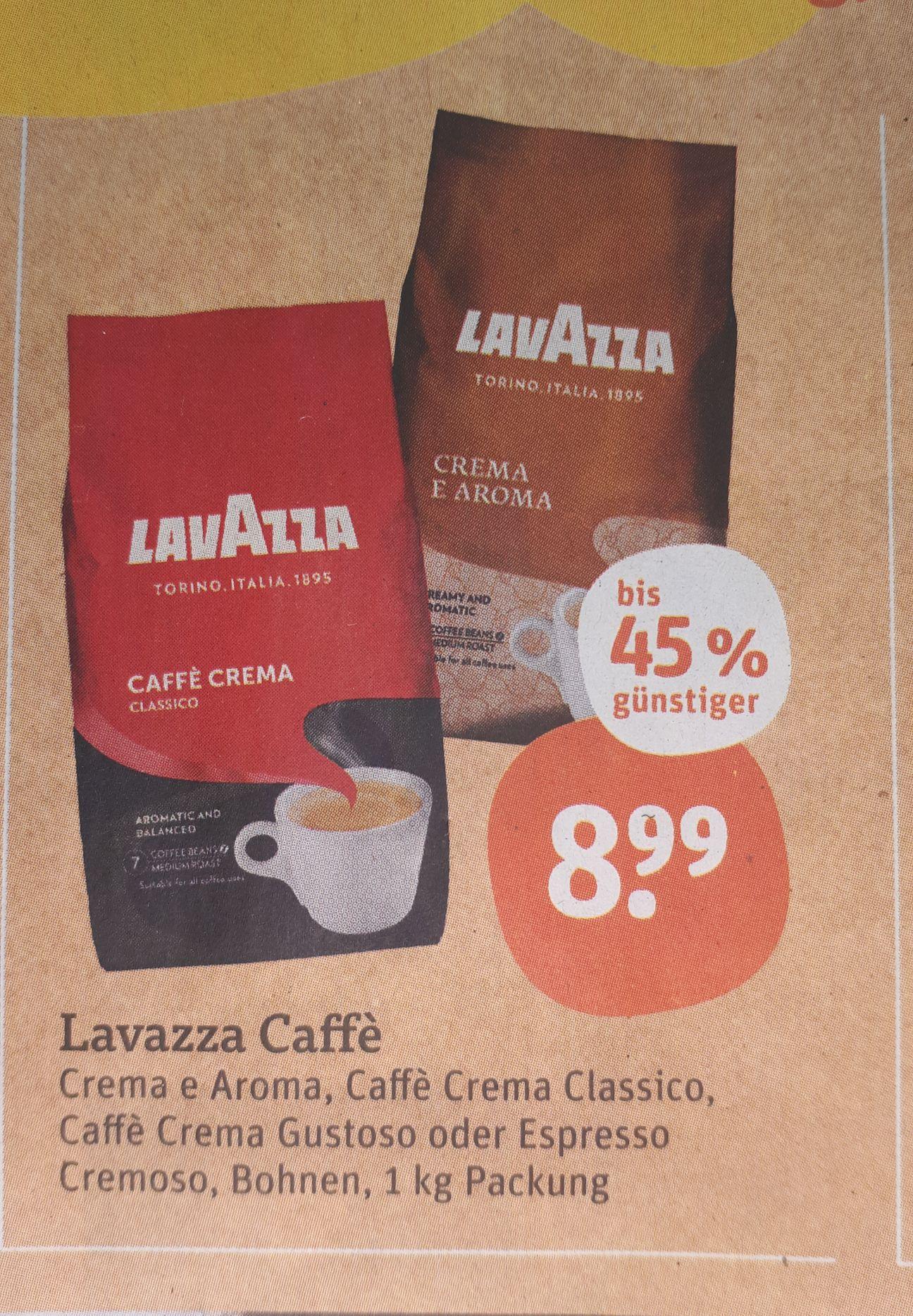 [Tegut Bayern] Lavazza Caffè 1kg verschiedene Sorten