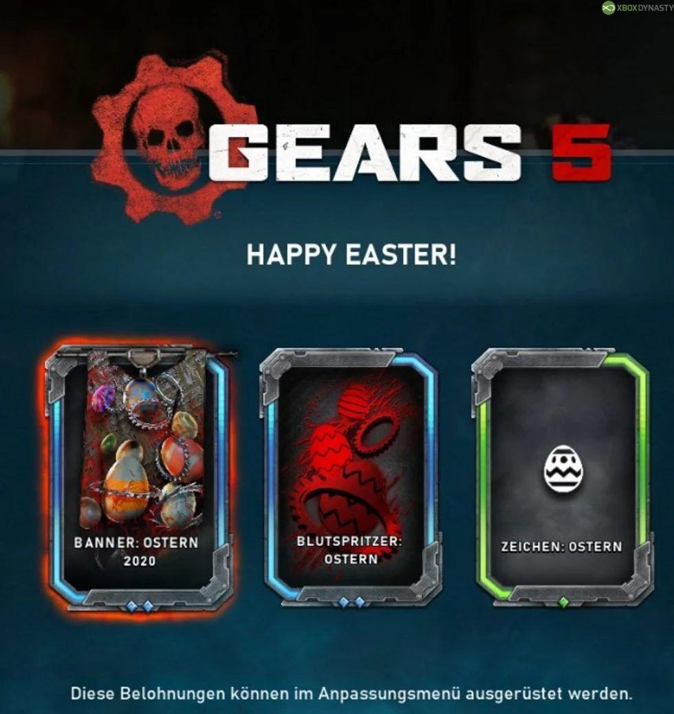 Kostenlose Items für Gears 5 bei Anmeldung bis Ostern (Xbox One & PC)