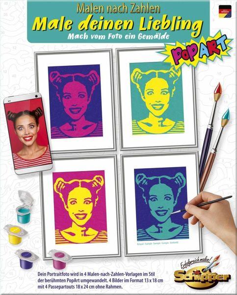 ( Amazon Prime ) Malen nach Zahlen der besonderen Art für Erwachsene - Male deinen Liebling PopArt - inklusive Pinsel und Acrylfarben