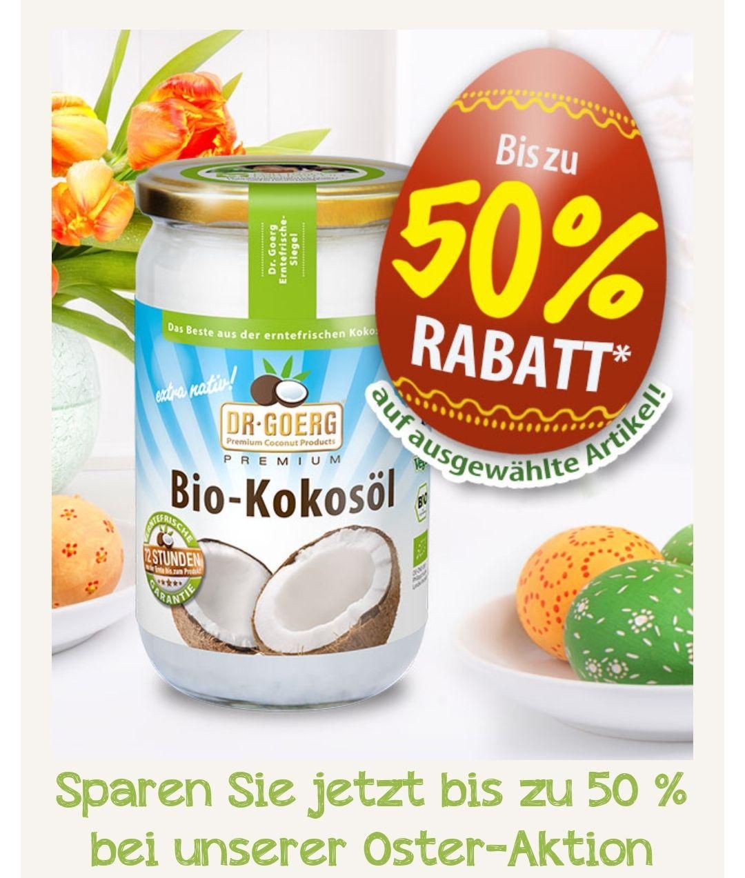 Osteraktion bei Dr. Goerg: bis zu 50% auf Premium Bio Kokosprodukte // fairtrade