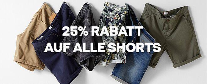 25% Rabatt auf alle Shorts bei Jack&Jones