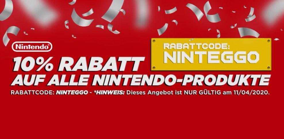 10% auf alle Nintendo Produkte bei StartSelect z. B. eShop Guthaben
