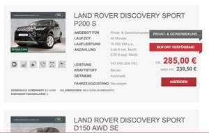 Privat- und Gewerbeleasing: Land Rover Discovery Sport ab 285,00 (48 Monate/10.000)