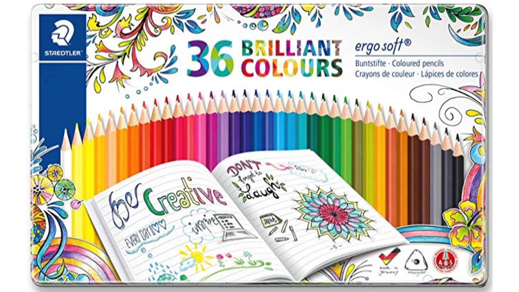 Staedtler ergo soft Buntstifte Assorted Colours 36er Metalletui für 12,99€ (Müller Abholung