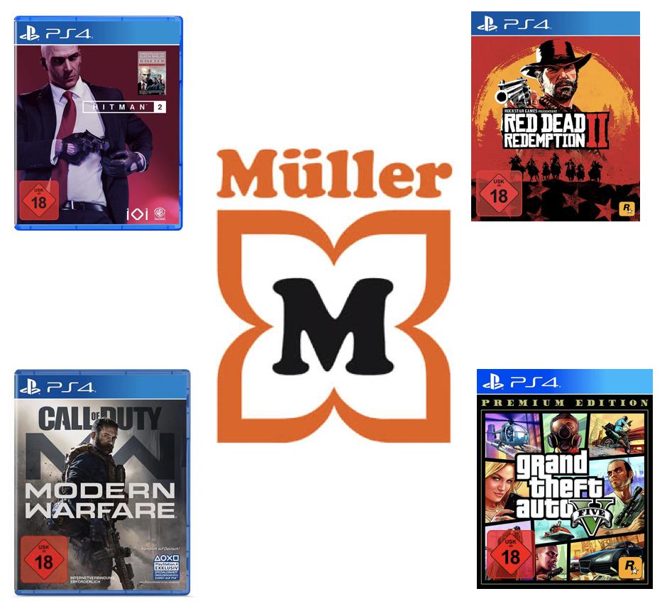 10% auf alle Multi-Media (PS4, Switch, Xbox One, etc.) z.B. Red Dead Redemption 17,99€ o. CoD - Modern Warfare 35,99€ [Müller Abholung]