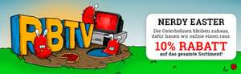 10% Rabatt auf alles im Rocket Beans TV (RBTV) Shop