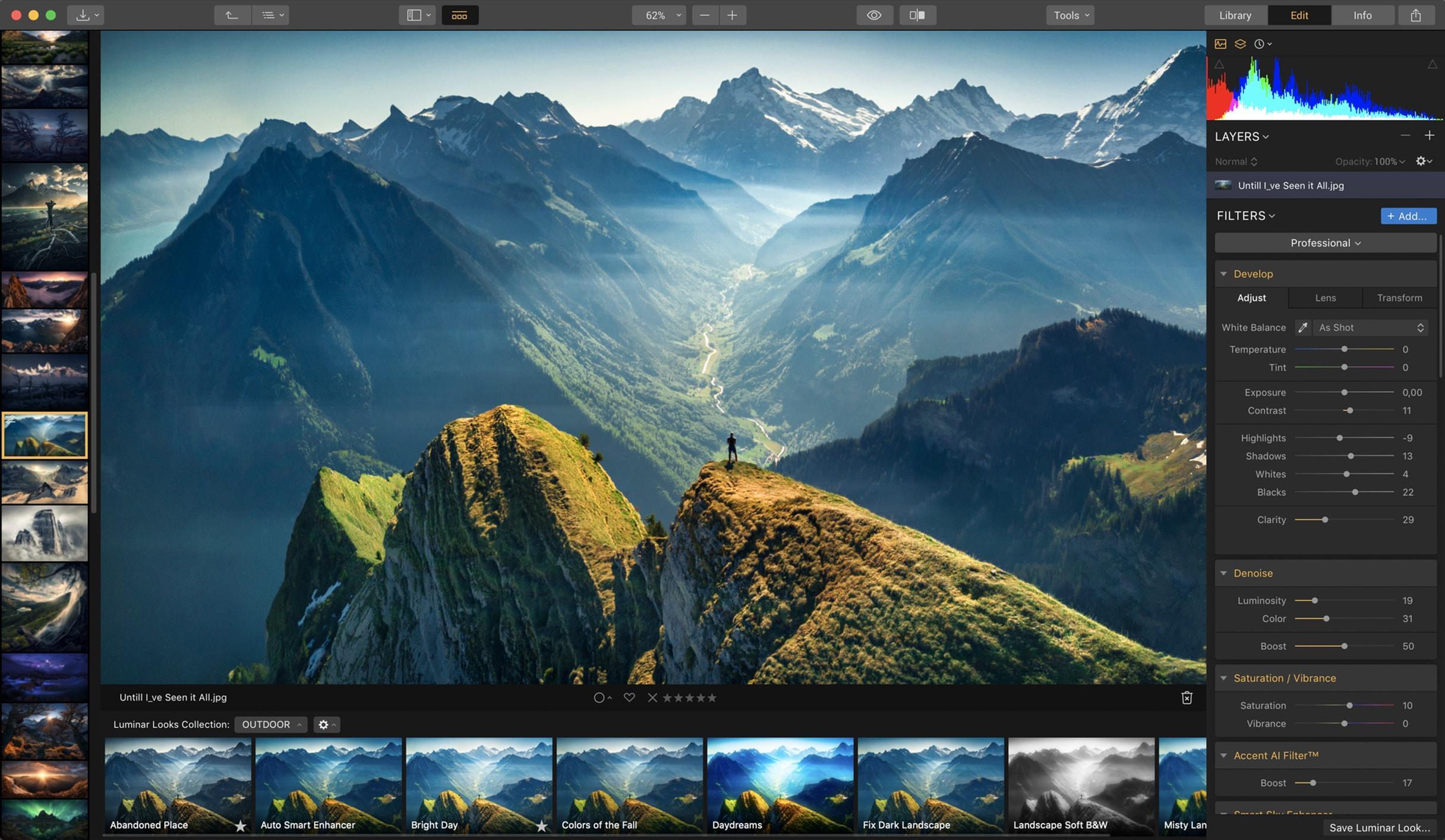 Skylum Luminar 4 - Fotobearbeitung und Fotoverwaltung für Win / Mac als Download