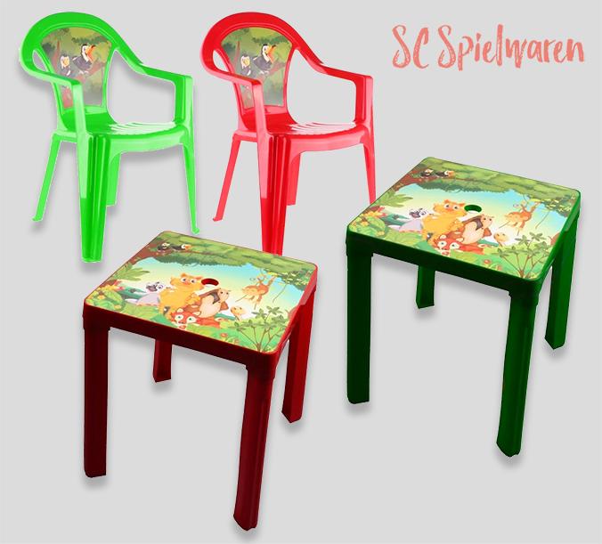 4 Kinderstühle mit Tisch für nur 32,80€ – 1 Stuhl gratis