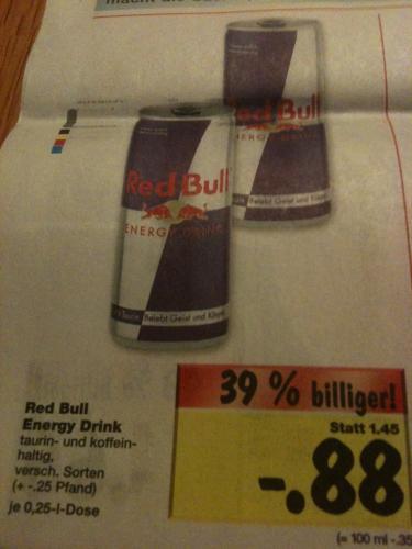 [Lokal?! Kaufland] Red Bull Energy Drink 88Cent