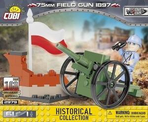 COBI Historical Collection 2979 - 75 mm Field Gun 1897, Bausatz 61 Teile für 4,98€ (Thalia Club)