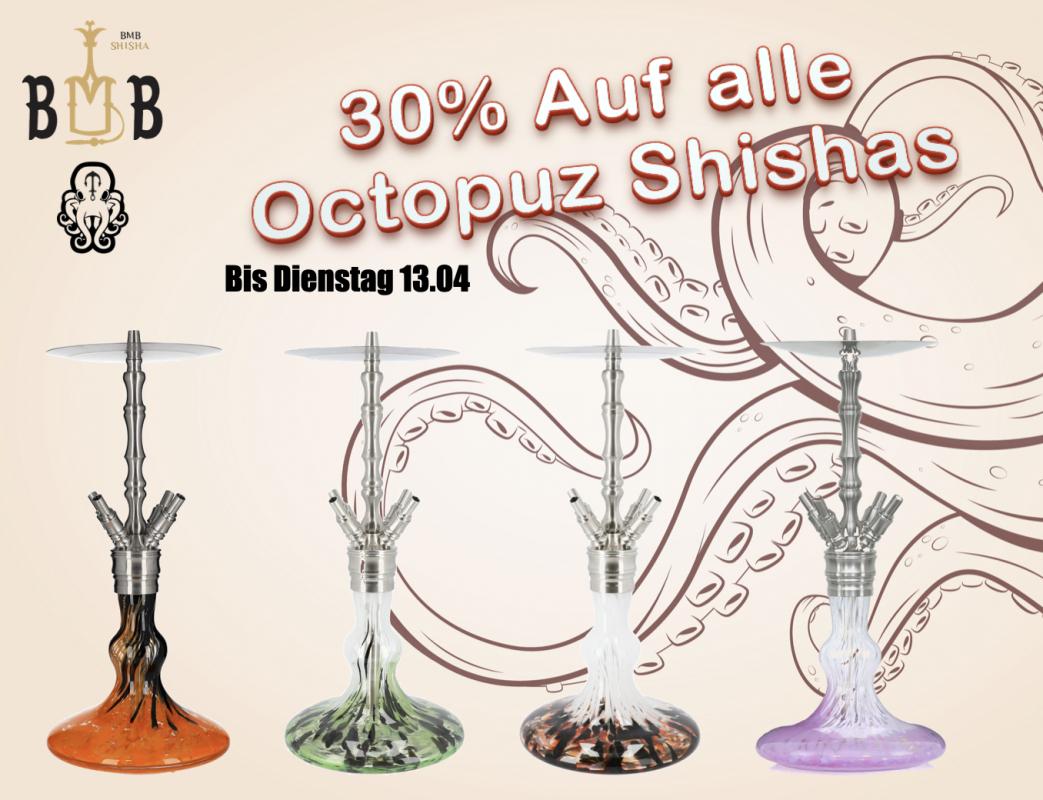 Octopuz Nautiluz Shisha in diversen Farben + kostenloser Versand ohne Mbw