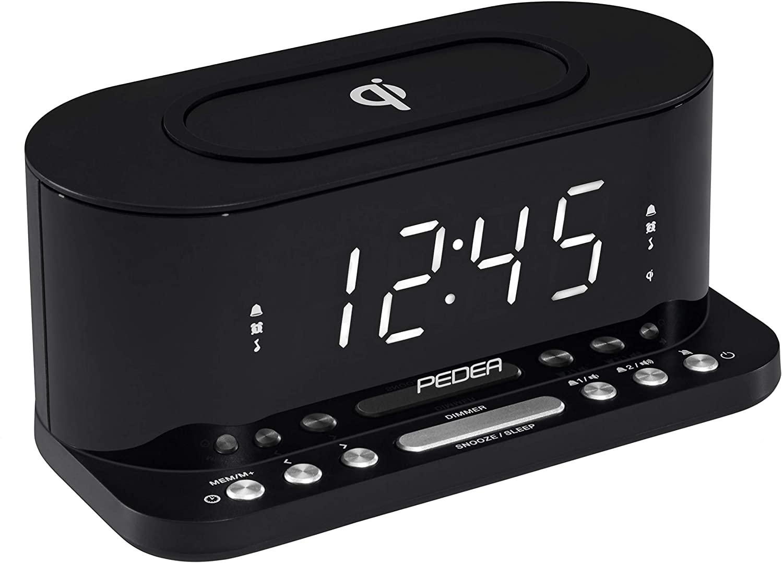 Radiowecker mit induktiver QI-Ladefunktion PEDEA FM