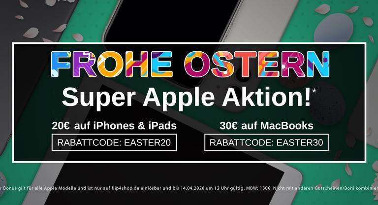 FLIP4NEW - bis zu 30€ Rabatt auf Apple Geräte