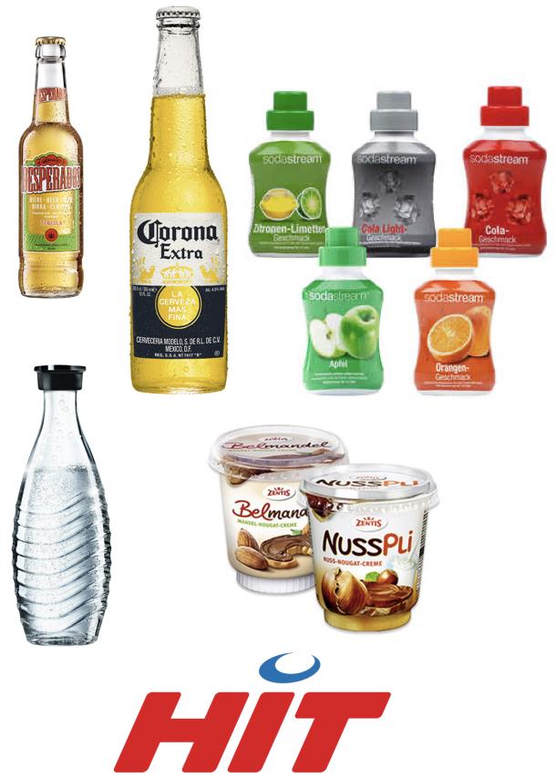 Alle SodaStream Konzentrate 3,33€ | Nusspli 400g 1,39€ | Corona Extra o. Desperados je Flasche 1€ | SodaStream Glaskaraffe Crystal [HIT]