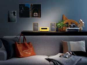 Onkyo CS-265 Hi-Fi CD Mini System mit Bluetooth in kultigem Gelb