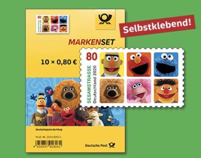 Versandkostenfrei im Deutsche Post Shop (z.B. 10x 80ct Sesamstraße Briefmarken)