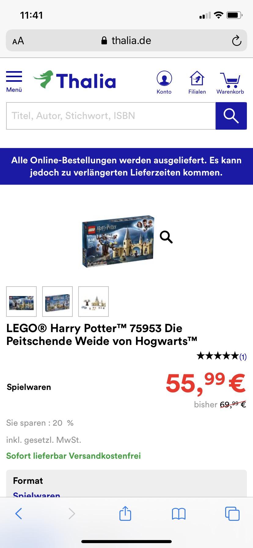 (Sammeldeal) zb. Lego Harry Potter 75953