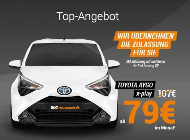 Sixt Vario-Finanzierung: Toyota AYGO x-play für 79,- EUR im Monat!