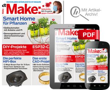 [Heise] 2 Ausgaben c't Make für 13,80 € mit 10€ Amazon-Gutschein/ oder Arduino NANO (PVG 24,65 €) als Prämie
