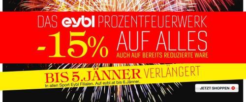 -15% auf alles bei Sport Eybl