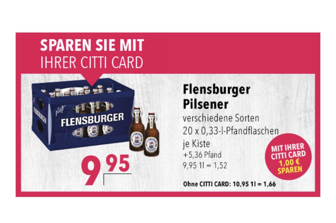 Lokal [Citti-Märkte] Flensburger Pilsner Kasten 20x 0,33 l