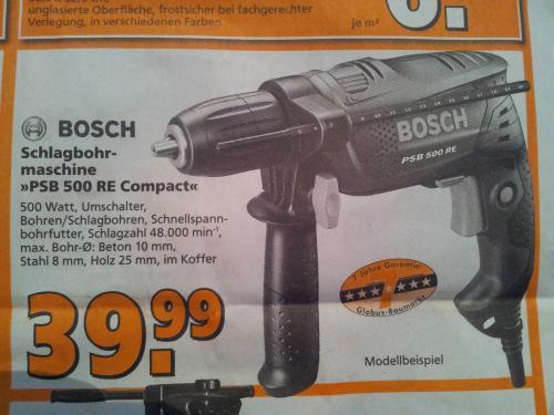 [Offline] [Lokal?] Bosch Einsteiger Schlagbohrbohrmaschine PSB 500 RE compact