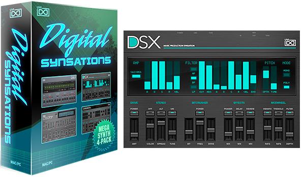 UVI Digital Synsations - 90er Retro Software-Synthesizer kostenlos durch Gutschein ( VST / AU/AAX/Standalone Instrument )