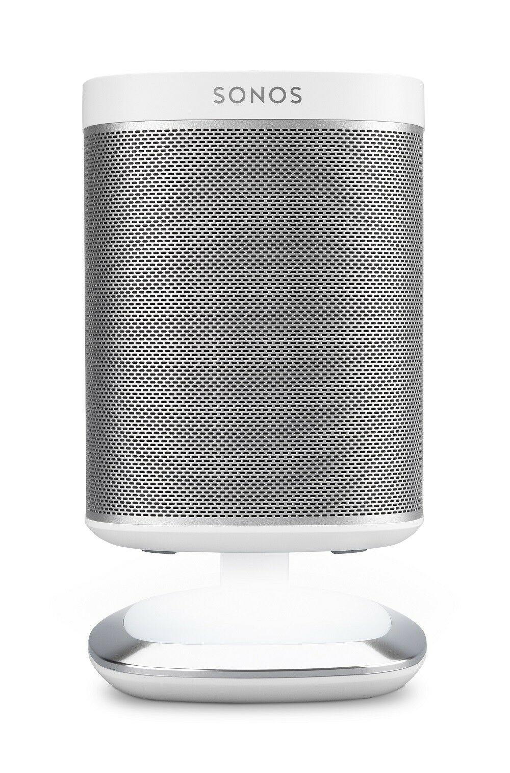 Flexson leuchtender DeskStand für Sonos Play:1 Weiß dimmbar Touch mit 2 USB Anschlüssen