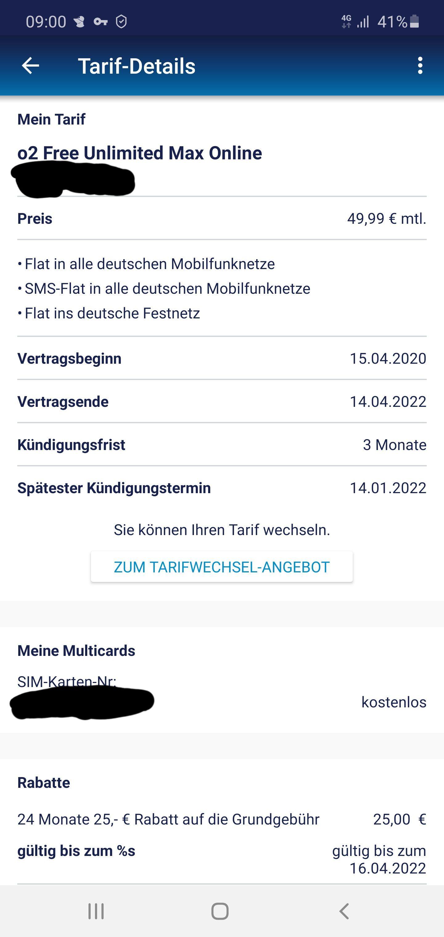*Vertragsverlängerung* O2 Free Unlimited Max für 24,99 €