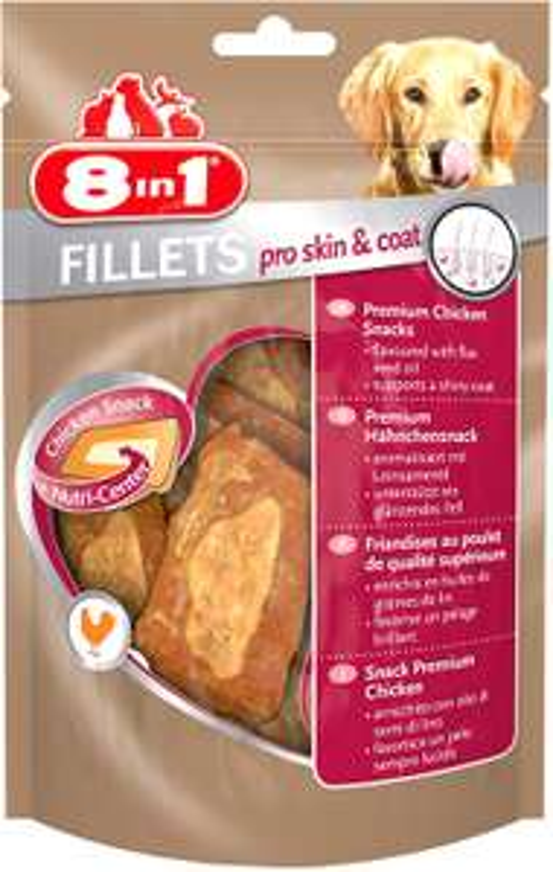 8in1 Fillets Hähnchensnack, funktionale Leckerlies für Hunde 0,85 euro