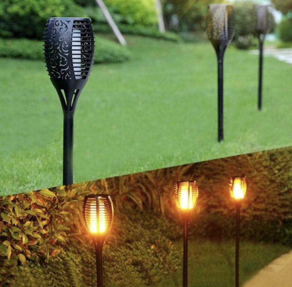 Solarflamme für den Garten