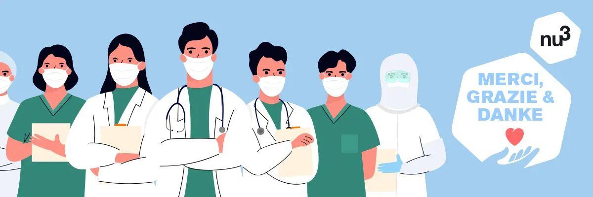 nu3 Geschenkpakete an Menschen im Gesundheitsbereich