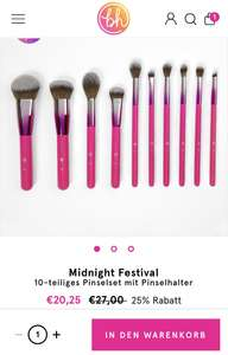 25% Rabatt auf die limitierte Midnight Festival Kollektion von BH Cosmetics + Kostenloser Versand ab 15€ Bestellwert