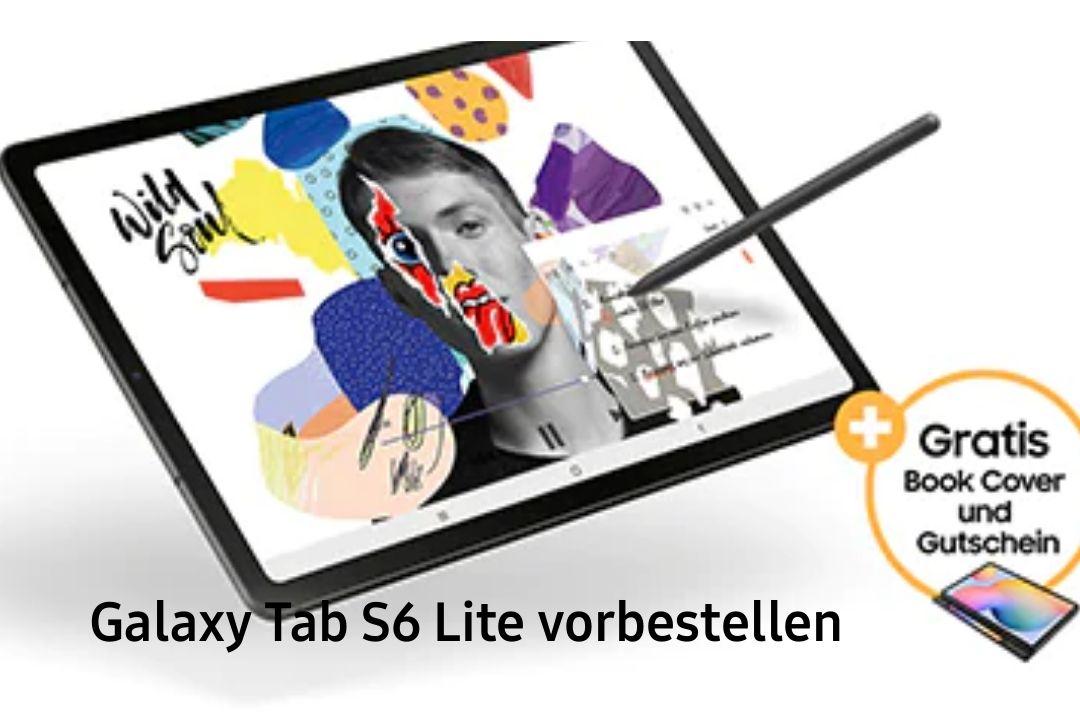 "[unidays/CB] Samsung Galaxy Tab S6 Lite (10,4"" IPS 2000x1200, Exynos 9611, 4/64GB, USB-C, Klinke, 7040mAh) + Book Cover WiFi 322€ | LTE 373€"