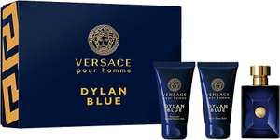 Versace Dylan Blue Eau de Toilette 50ml + Duschgel 50ml + Aftershave Balsam 50ml