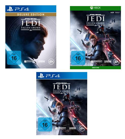 [MM / Saturn Abholung] Star Wars Jedi: Fallen Order - Standard Edition (PS4 / Xbox One / USK) für 34,99€ | Deluxe Edition PS4 für 44,99€
