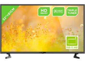 "OK. ODL 32653HS-TB 32"" LED TV (HD-ready, Triple-Tuner, 2xHDMI) + Stapelbecher + 5€ shoop"
