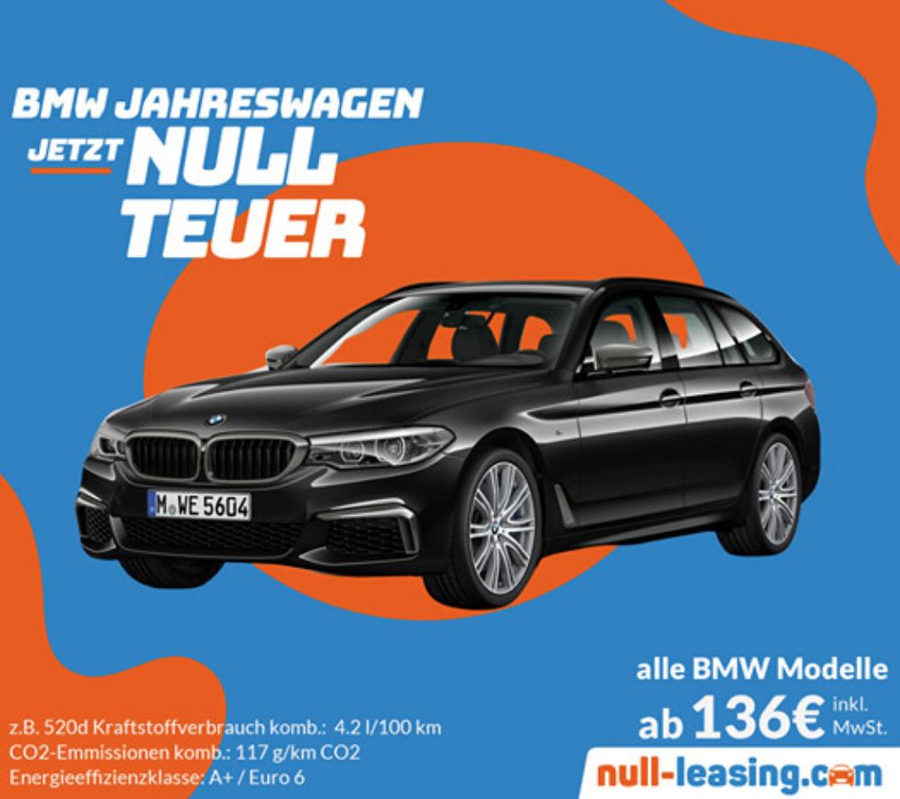 BMW Jahreswagen im Angebot (Privatleasing)