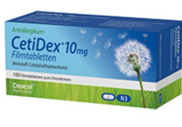 2x 100 Stück CETIDEX 10 mg Filmtabletten (Cetirizin Tabletten)