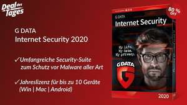 80% Rabatt auf G DATA Internet Security 2020 ( Ex-Heise Deal des Tages)