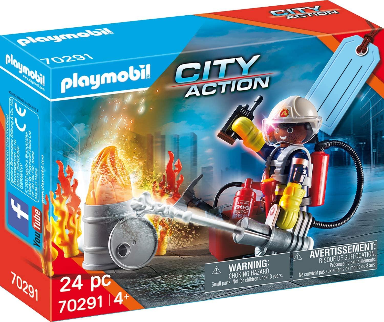 "Playmobil City Action - Geschenkset ""Feuerwehr"" & Go Kart-Rennen & Family Fun - Geschenkset ""Zoo"" & Knights ""Ritter"" für je 4,99€ (Müller)"