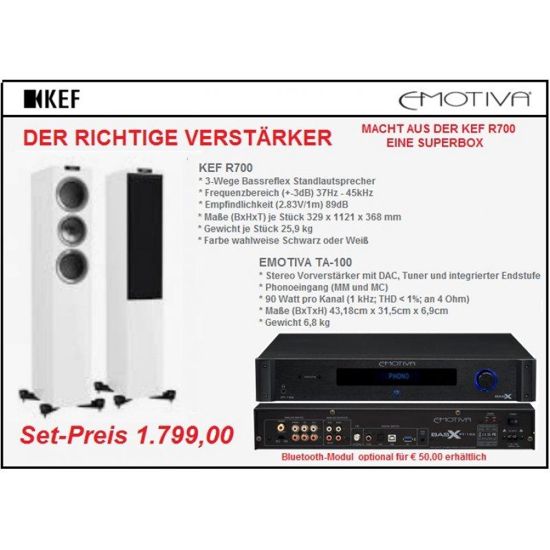 Lautsprecher KEF R700(paar) und DAC Receiver TA-100