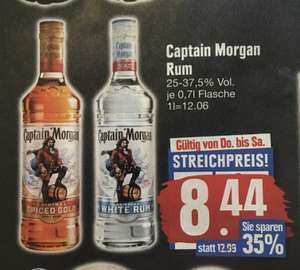 [Lokal Edeka] Captain Morgan Rum White oder Spiced Gold