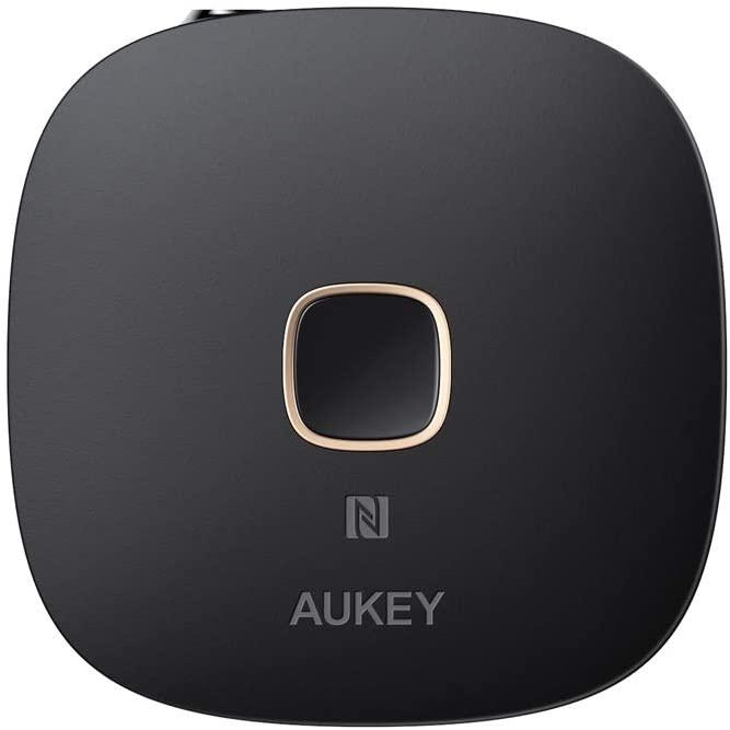 AUKEY Bluetooth Empfänger, NFC-fähiger kabelloser Audio Adapter mit Bluetooth 5 - mit Prime für 14,99€