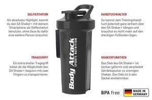 Fitness-Shaker mit Magnet Feature - GA Shaker+ in Body Attack Ausführung