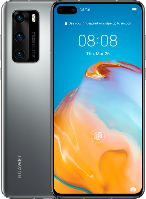 "Huawei P40 (6.1"", AMOLED, 2340x1080, Kirin 990 5G, 8GB RAM, 128GB + NM, 50MP hinten, 32MP vorne, 4K@60fps, 3800mAh, USB-C, BT5, NFC, 175g)"