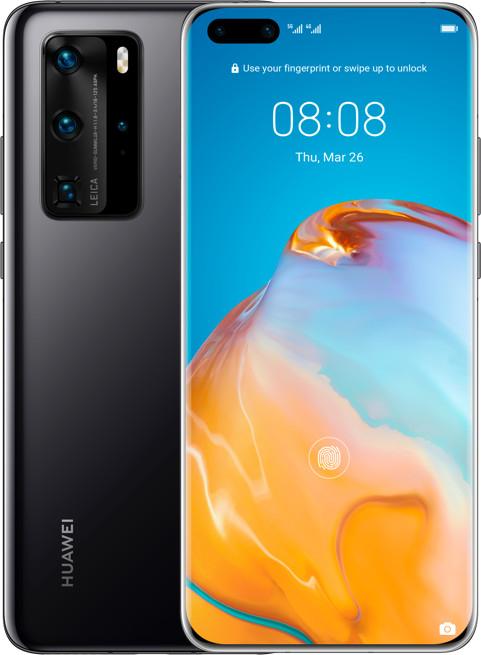 "Huawei P40 Pro (6.58"", AMOLED, 2640x1200, Kirin 990 5G, 8GB RAM, 256GB + NM, 50MP hinte, 32MP vorne, 4K@60fps, 4200mAh, USB-C, BT5, NFC, Qi)"